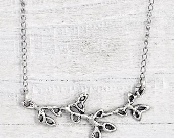 Little Branch Necklace - Twig Necklace - Tree of Life Necklace - Nature Jewelry - N734