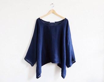 """Linen tunic """"JILL-blue"""" By Linnesand"""