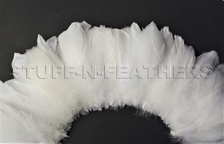 White craft feathers bulk -  23 65