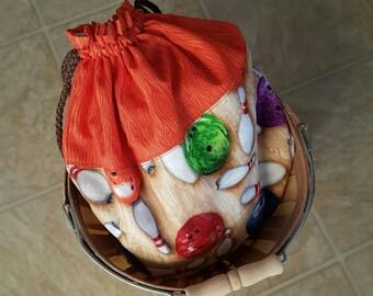 Yoga Backpack  - drawstring bag - sling pack - bowling ball fabric