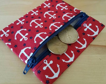Ahoy I found it in my red pouch - organizer - anchors - nautical