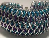 Mermaid Inspired Dragonscale Chainmaille Cuff