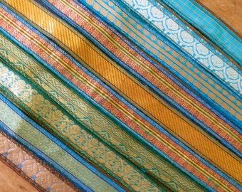 10 x Brocade Silk Ribbons, W271