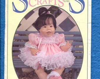 Syndee's Crafts Baby Doll Dress Pattern Size 10..16..21 inch Doll Uncut