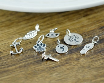 Silver Charm, Add On Charm, Ala Carte -Charms, Add On, Necklace Charms
