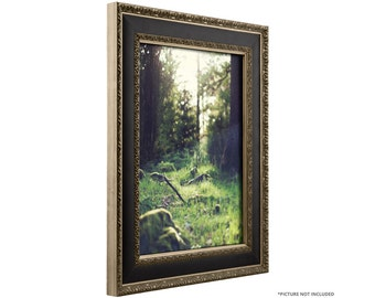 """Craig Frames, 16x20 Inch Antique Silver and Black Picture Frame, Galerie, 1.75"""" (96001620)"""
