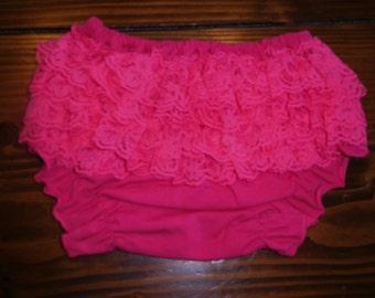 Bright Pink Lace Ruffle Diaper Covers CLEARANCE Liquidation Sale