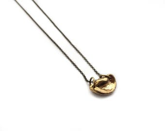Whorl Necklace // Brass Shell Pendant