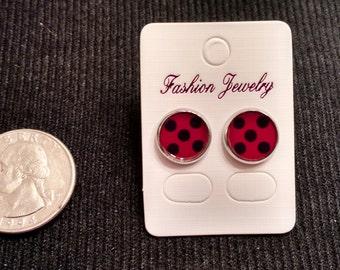 Miraculous Ladybug 10mm Stud Earrings