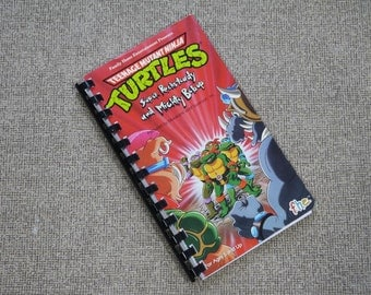 Handmade Teenage Mutant Ninja Turtles Cartoon TV Show 1990 Re-purposed VHS Cover Notebook Journal