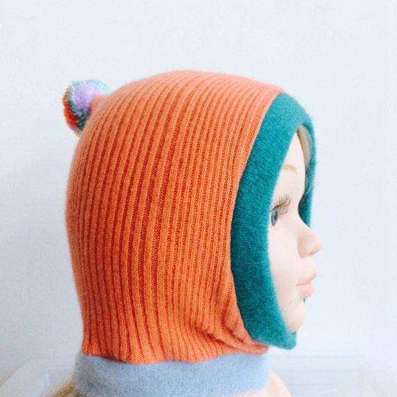 DIZZY 0-3m Baby Babies Hat Cashmere Balaclava Bobble Hat Unisex