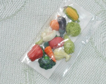 Miniature Dollhouse Food Set - Miniature Mixed Vegetables