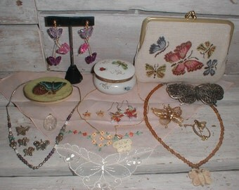 Butterfly Collection *Hankie*Jewelry*Trinket Dish*Cosmetic Bag*