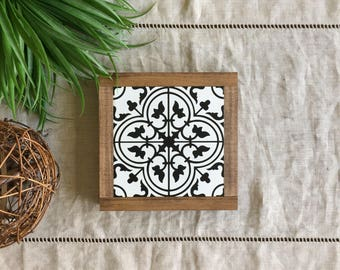 Tile Pattern Wood Sign | Moroccan | Pattern Wood Sign |  Mini Wood Sign | Farmhouse Decor