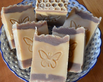 Honey Soap -  Handmade soap with Shea and Cocoa Butter -  Handmade in BC, Canada