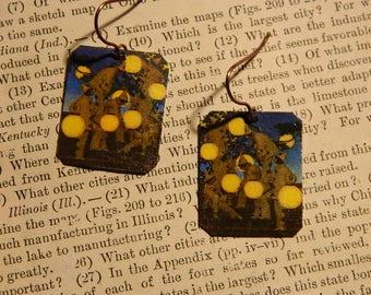 Maxfield Parrish earrings Maxfield Parrish jewelry The Lantern Bearers Art Gift