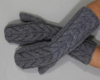 Beautiful hand knitted ladies mittens. One finger gloves for ladies, available in many colours.