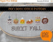 HALF OFF STOCK Up Sale Kawaii Fall Foods Cross Stitch Pattern
