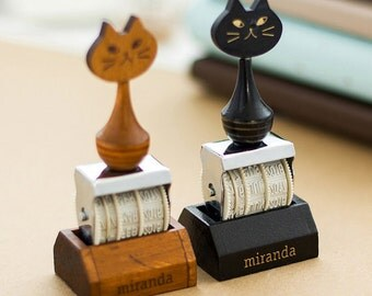 Cat Stamp Date Stamp Rubber Stamp