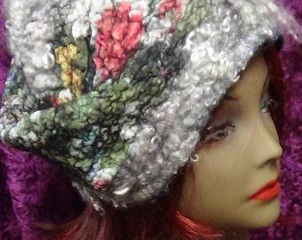 Womens hats, Hippie hat, Handmade hats, Wool hat, Festival hat, Fairy hand knit hat, Boho felt hat, Uniuqe winter hat, Wool cap