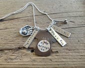Special Kathleen Baseball Mom Girlfriend Necklace Three Players One Jersey jewelry sports mom