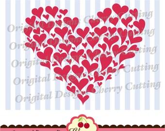 Svg Dxf Valentine's Day hearts,Hearts  SVG Silhouette & Cricut Cut Files VLTSVG7