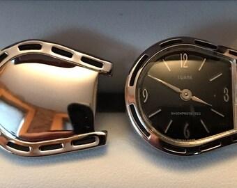 RARE Original Vintage SWANK Fashion-Time Watch Cufflinks