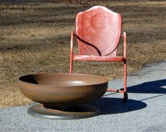 Fire Pit 30 inch Medium Depth Pedestal Base - firepit metal fire pit fire pits fire pit bowl fire bowl fire pit handmade fire pit