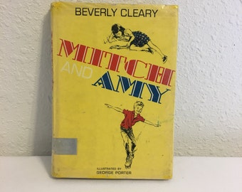 Vintage Book, Mitch and Amy by Beverly Cleary, Vintage Hard Cover First Edition
