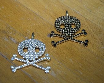 Crystal Skull Pendants Set Of Two