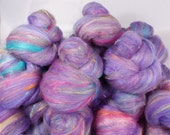 Fiber Batts-Visions of Sugar Plums -(3.9 oz.) merino, ANGORA, corriedale fleece, silk,  faux cashmere, bamboo, angelina,  silk noil