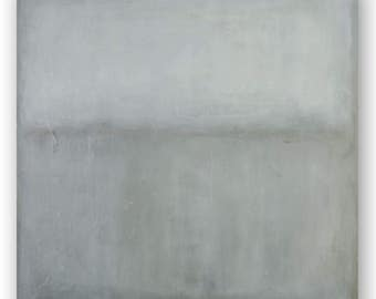 Large original abstract painting zen, minimalism, color field painting white, gray wall art acrylic on canvas painting Rothko inspired