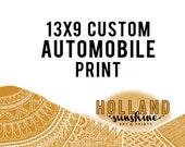13 x 9 Custom Automobile Print