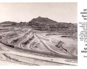 Vintage Photo Postcard...Arizona, New Cornelia Open Pit Mine at Ajo...Unused...no. 3902