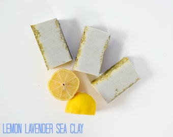 Lemon Lavender Sea Clay Soap