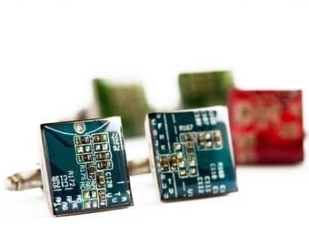 Circuit board cufflinks - unique cufflinks, gift for him, gift for husband, Men's Cuff links, gift for dad, tech fashion