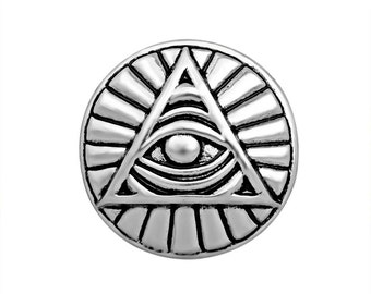 1 PC 18MM Eye Triangle Silver Candy Snap Charm Limited Edition CC3120