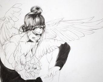 Owl Familiar Fine Art Print