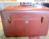 RESERVED FOR AbigailMid Century Train Case - Samsonite Brown - Luggage Travel Storage