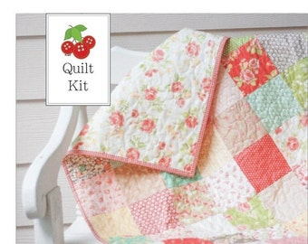 25% Off Sale Strawberry Fields Baby Quilt Kit - Crib Quilt Kit - Lap Quilt Kit - One Kit - SFQK