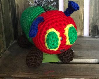 Hungry Little Caterpillar crochet toy