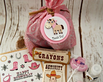 Cowgirl Party Filled Favor Bags (set of 8)