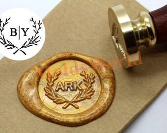 Personalized Wedding Initials Wax Seal Stamp Custom Monogram Wedding Invitation Branch Sealing Wax Stamp