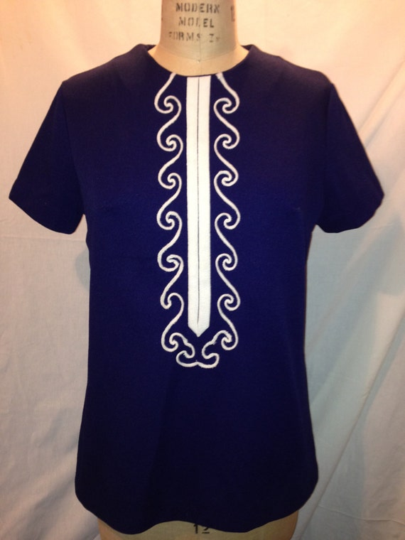 Vintage Blue Short Sleeve Shirt S2