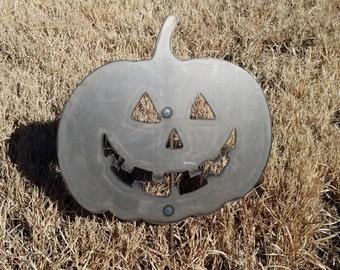 Metal  Pumpkin Jack-o-lantern Garden Stake