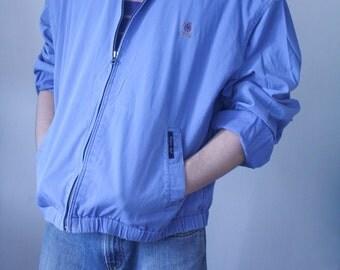 Vintage 1980s Tommy Hilfiger Golf Jacket - Light Blue