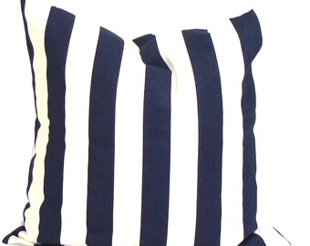 NAVY BLUE PILLOW Sale.14x14 inch.Decorative Pillow Cover.Blue Cushion Cover.Blue Pillow.Navy Blue Pillow.Small Blue Pillow.Stripe Pillow