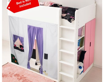 Bunk Bed tent / Loft bed curtain - free design and colors customization : bunk beds with tent - memphite.com