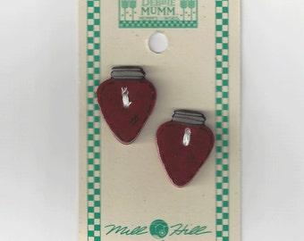 Clearance - Debbie Mumm Red Christmas Bulb Button Set #43048