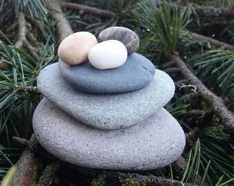 Natural Beach Stone Sculpture NEST SCULPTURE Series Sculpture #3 Titled TRIO Rock Art Beach Stone Art Natural Gift Nursery Art Birds Nest